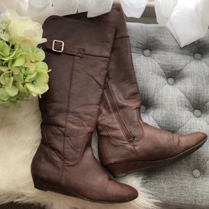 F21 knee high boots 💜